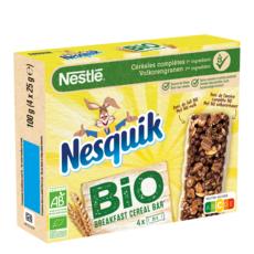 NESQUIK Barres de céréales bio  4x25g