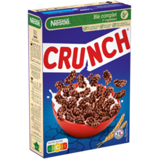 CRUNCH Céréales croustillantes au chocolat 450g