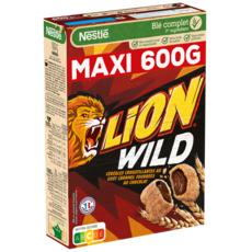 LION Wild Céréales goût caramel fourrées chocolat 600g 600g