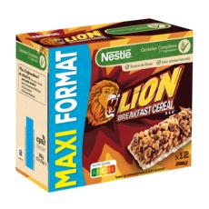 LION Barres de céréales maxi format 12 barres 12x25g