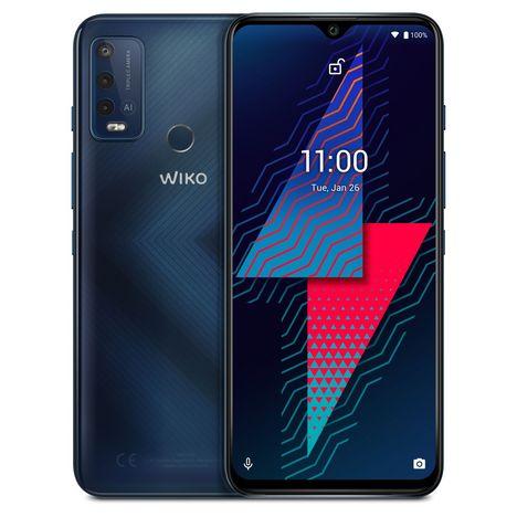 WIKO Smartphone Power U30  4G  64 Go  6.82 pouces  Bleu foncé  Double Nano Sim