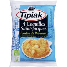 TIPIAK Coquilles Saint-Jacques aux poirreaux 4 pièces 360g