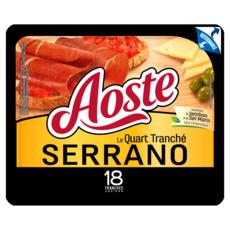 AOSTE Quart de jambon serrano tranché 18 tranches 220g