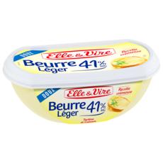 ELLE & VIRE Beurre doux tendre léger 41%MG 250g