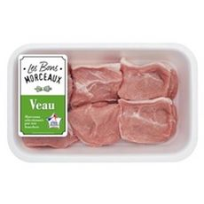 LES BONS MORCEAUX Sauté *** de veau à mijoter 6 pièces 600g