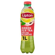 LIPTON  Boisson Green Ice Tea à base de thé saveur pêche blanche 1l