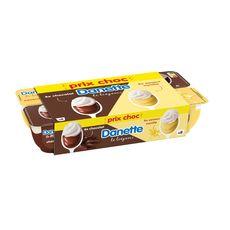 DANETTE Le Liégeois au chocolat et à la vanille 8x100g