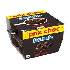 DANETTE Crème dessert au chocolat noir extra 8x125g