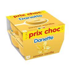 DANETTE Crème dessert saveur vanille 8x125g