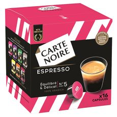 CARTE NOIRE Capsules de café espresso 100% arabica compatibles Dolce Gusto 16 capsules 130g