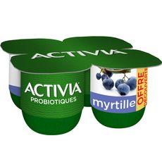 ACTIVIA Yaourt au bifidus saveur myrtille 4x125g