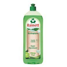 RAINETT Liquide vaisselle écologique super dégraissant citron vert 750ml