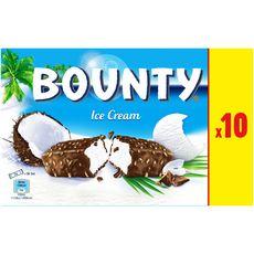 BOUNTY Barre glacée noix de coco 10 pièces 391g