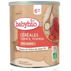 BABYBIO Céréales bio en poudre à la tomate, poivron et quinoa dès 6 mois 220g
