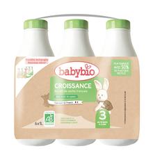 BABYBIO Lait croissance liquide dès 10 mois 6x1l