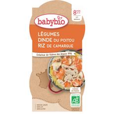 Babybio BABYBIO Bols légumes dinde riz bio dès 8 mois