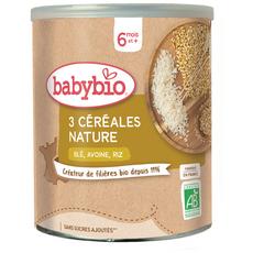 BABYBIO 3 Céréale blé avoine riz en poudre dès 6 mois 220g