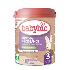 BABYBIO Optima 3 Lait de croissance 3éme âge dès 10 mois 800g