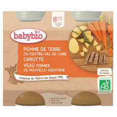 Babybio BABYBIO Petit pot pomme de terre carotte veau bio dès 8 mois