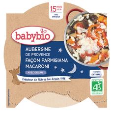BABYBIO Assiette aubergines façon parmigiana macaroni bio dès 15 mois 260g