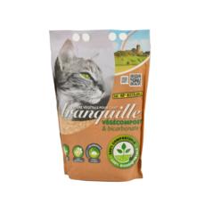 TRANQUILLE Litière végétale végécompost et biocarbonate pour chat 4l