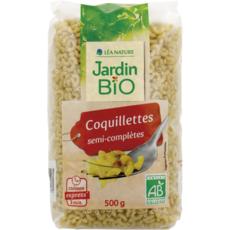 JARDIN BIO ETIC Coquillettes semi-complètes cuisson rapide 3min 500g