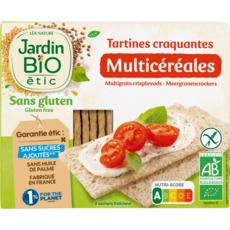 JARDIN BIO ETIC Tartines craquantes multicéréales sans gluten 150g