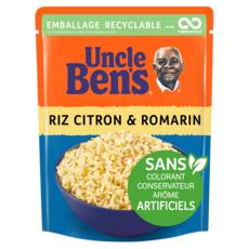 UNCLE BEN'S Riz citron romarin sachet recyclable prêt en 2 min 1 personne 250g