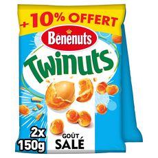 BENENUTS Twinuts goût salé 2x150g +10% offert