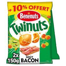 BENENUTS Twinuts goût bacon 2 sachets  2x150g +10% offert