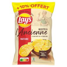 LAY'S Chips à l'ancienne nature 300g + 10% offert 400g