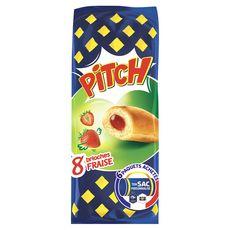 PITCH Brioches fourrées à la fraise 8 pièces 310g