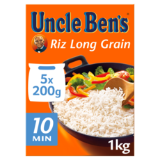 UNCLE BEN'S Riz long grain en sachets 5 sachets 1kg