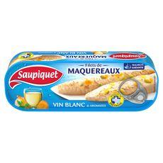 SAUPIQUET Filets de maquereaux au vin blanc et aromates, produit en Bretagne 176g