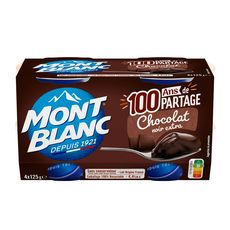 MONT BLANC Crème dessert chocolat noir extra 4x125g