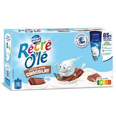 MONT BLANC Récré Olé goûter laitier en gourde saveur chocolat 12x85g