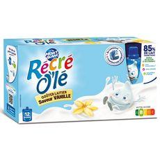 MONT BLANC Récré Olé goûter laitier en gourde saveur vanille 12x85g