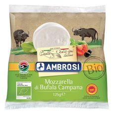 AMBROSI Mozzarella di Bufala Campana AOP bio 125g