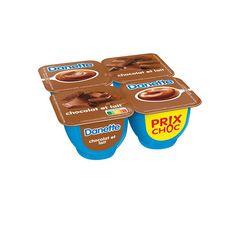 DANETTE Crème dessert chocolat et lait 4x125g