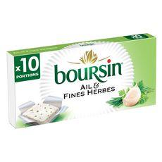 BOURSIN Fromage à tartiner à l'ail et aux fines herbes 10 portions 10x16g