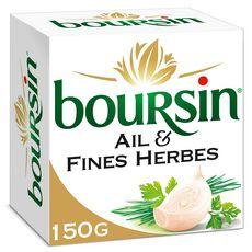 BOURSIN Fromage à tartiner à l'ail et aux fines herbes 150g