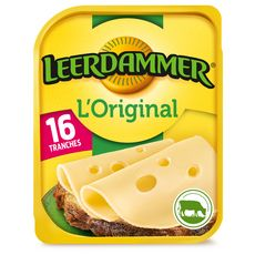 LEERDAMMER L'Original Fromage nature en tranche 16 tranches 400g