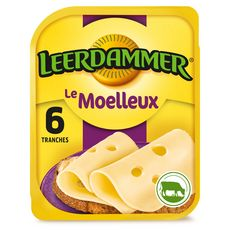 LEERDAMMER Le Moelleux Fromage nature en tranche 6 tranches 150g