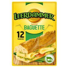 LEERDAMMER Spécial Baguette Fromage pour sandwich 8 tranches 160g