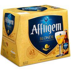 AFFLIGEM Bière blonde belge d'abbaye 6,7% bouteilles 12x25cl