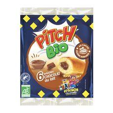 PITCH Brioches fourrées chocolat au lait bio  6 brioches 232g