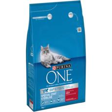 PURINA One bifensis croquettes au boeuf blé pour chat stérilisé 3kg