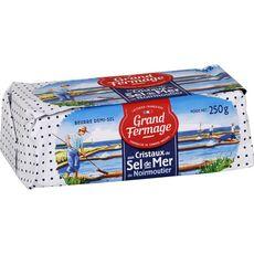 GRAND FERMAGE Beurre demi-sel aux cristaux de sel de mer 250g