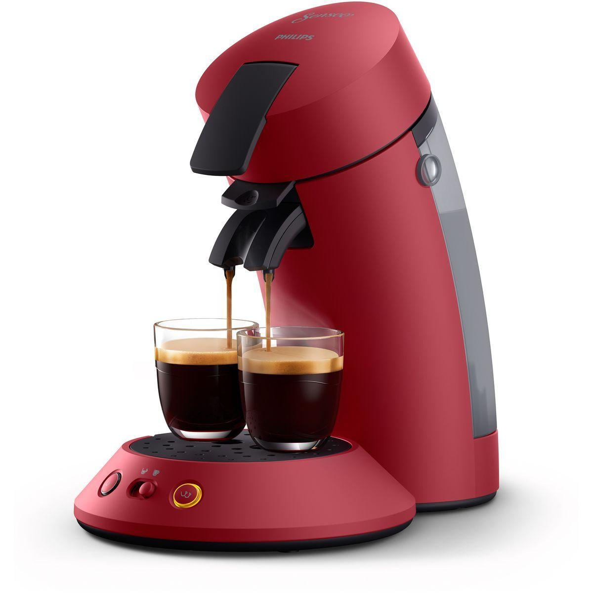 Machine à café à dosettes Senseo CSA210/91 - Rouge