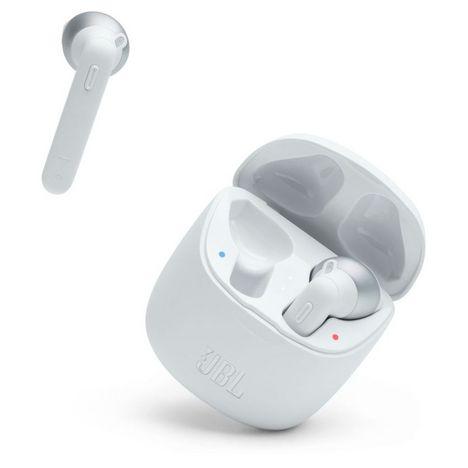JBL Écouteurs sans fil Bluetooth avec étui de recharge - Tune 225TWS - Blanc